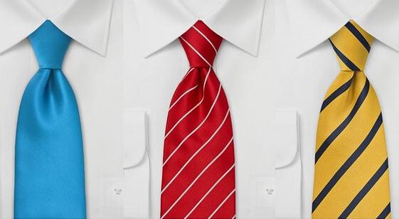 青・赤・黄のネクタイ