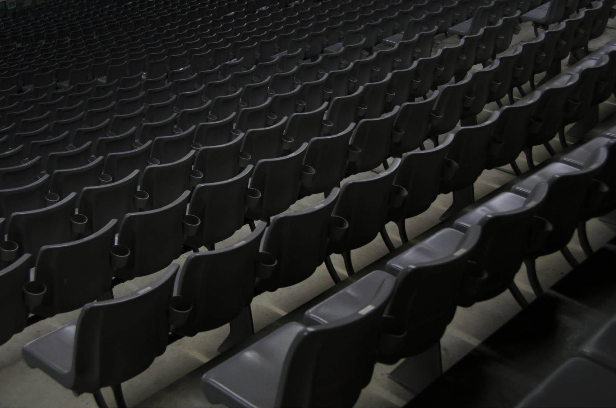 スタジアムの椅子