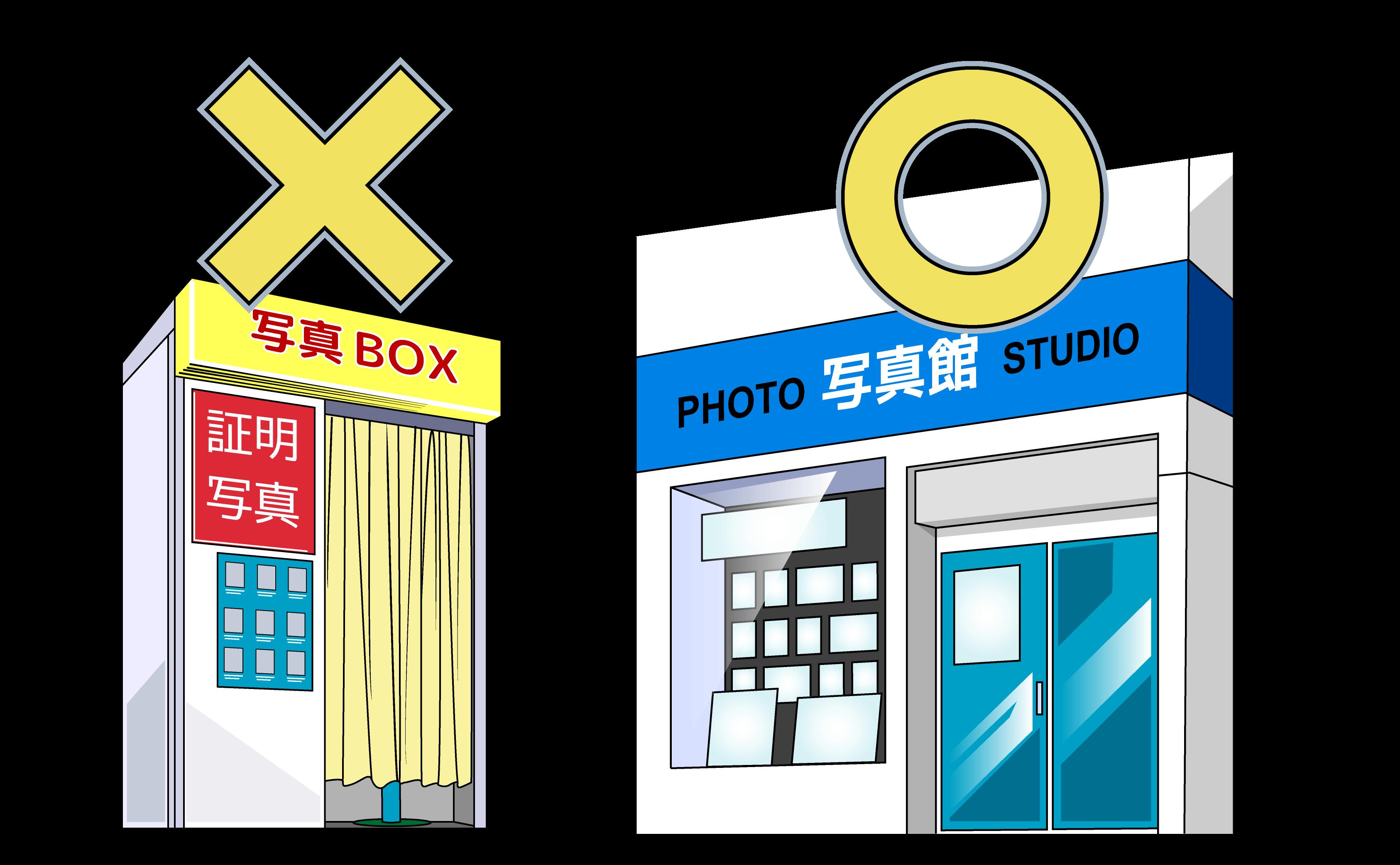 就活写真は写真ボックスではなく写真館やスタジオで